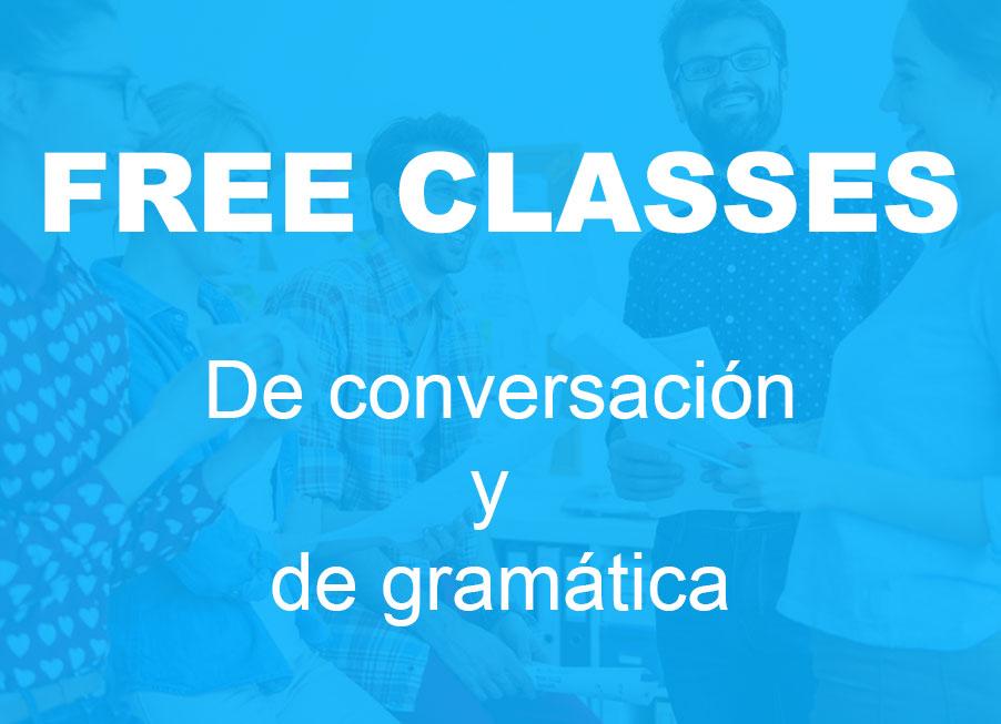 ofertas free classes de conversación y gramática